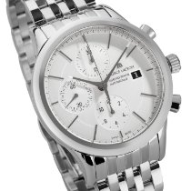 Maurice Lacroix Les Classiques Chronographe Stahl 41mm Silber Keine Ziffern