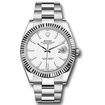 Rolex White gold Automatic White 41mm new Datejust