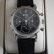 Patek Philippe Perpetual Calendar Chronograph Platin 36mm Schwarz