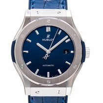 Hublot Titanium Automatic Blue 42mm new Classic Fusion Blue