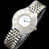 Cartier 21 Must de Cartier Gold/Steel 28mm Silver Roman numerals United States of America, Georgia, Suwanee