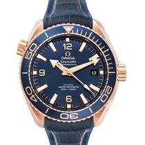 Omega Pозовое золото Автоподзавод Синий 43.5mm новые Seamaster Planet Ocean