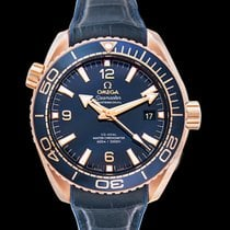 Omega Rose gold Automatic Blue 43.5mm new Seamaster Planet Ocean