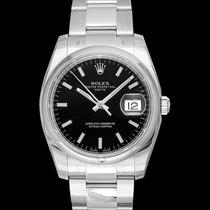 Rolex Oyster Perpetual Date Steel 34mm Black