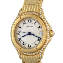 Cartier Cougar Yellow gold 27mm Silver Roman numerals United States of America, Texas, Dallas
