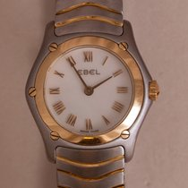 Ebel Classic Steel 24mm Mother of pearl Roman numerals