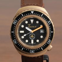 Squale new Automatic Central seconds Luminous hands Rotating Bezel Limited Edition Screw-Down Crown Only Original Parts Luminous indices 44mm Bronze Sapphire crystal