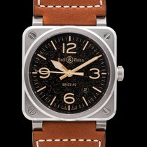 Bell & Ross Steel Automatic Brown 42mm new BR 03-92 Steel