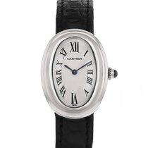 Cartier Baignoire Or blanc 22mm Blanc Romains France, Paris