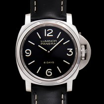 Panerai Luminor Base 8 Days Stål 44mm Svart