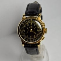Election Yellow gold 33mm Manual winding valjoux 22 pre-owned