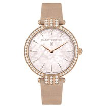 Harry Winston Rose gold Quartz Mother of pearl 36mm new Premier