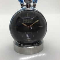 Panerai Table Clock Steel 46mm Black