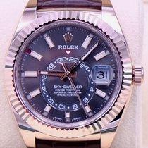 Rolex Sky-Dweller 326135 Неношеные Pозовое золото 42mm Автоподзавод