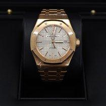 Audemars Piguet Rose gold Automatic Grey No numerals 37mm new Royal Oak Selfwinding