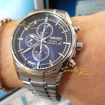 Seiko SSC365P1 SEIKO SPORT Cronografo solare Titanio Blu Quarzo 42 2020 nuevo