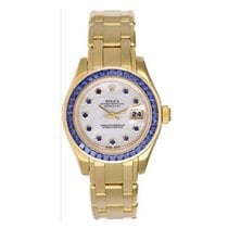 Rolex Pearlmaster pre-owned 29mm Mother of pearl Yellow gold