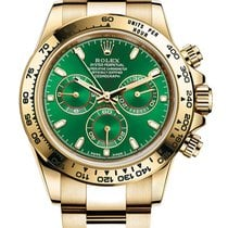 Rolex Daytona Yellow gold 40mm Green No numerals United States of America, California, Los Angeles
