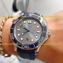 Omega Seamaster Diver 300 M 210.32.42.20.06.001 Omega Diver 300m Sub Ghiera Blu 42mm CInturino Gomma 2020 new