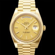 Rolex Day-Date 40 Yellow gold 40.00mm Champagne United States of America, California, San Mateo