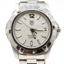 TAG Heuer Aquaracer pre-owned 38mm White Date Steel