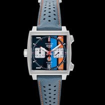 TAG Heuer Steel Automatic Blue 39mm new Monaco Calibre 11