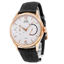 Oris Rose gold Manual winding White Arabic numerals 43mm new Artelier Calibre 111