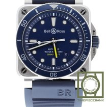 Bell & Ross BR 03-92 Steel BR0392-D-BU-ST/SRB new