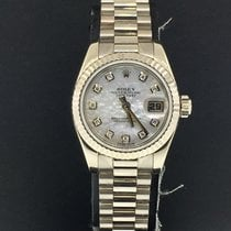 Rolex Lady-Datejust Oro blanco 26mm Madreperla Sin cifras