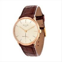Patek Philippe Rose gold Manual winding Silver No numerals 33mm pre-owned Calatrava