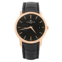 Vacheron Constantin Red gold Automatic Black 38mm new Patrimony