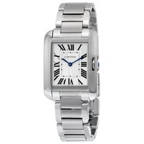 Cartier Tank Anglaise Steel 34.7mm Silver Roman numerals United States of America, New York, New York