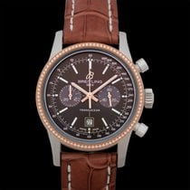 Breitling Transocean Chronograph 38 Steel 38mm Brown United States of America, California, San Mateo