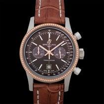 Breitling Transocean Chronograph 38 Acero 38mm Marrón