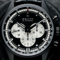 Zenith El Primero Chronomaster pre-owned 42mm Black Chronograph Date Leather
