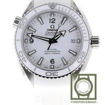 Omega Seamaster Planet Ocean Stahl 42mm Weiß Arabisch
