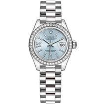 Rolex Platinum Automatic Blue 28mm new Lady-Datejust