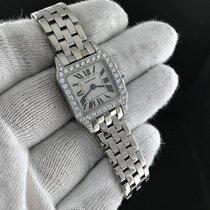 Cartier Белое золото Кварцевые Цвета шампань 26mm подержанные Santos Demoiselle