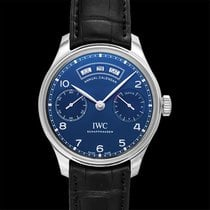IWC Portuguese Annual Calendar Steel 44.20mm Blue United States of America, California, San Mateo
