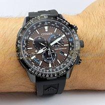 Citizen Steel 45mm Automatic CB5005-13X Citizen Radiocontrollato Chrono Nero 45mm Cinturino Gomma Nera new