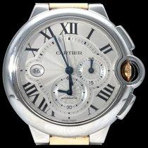 Cartier Ballon Bleu 44mm occasion 44mm Argent Chronographe Date Or/Acier