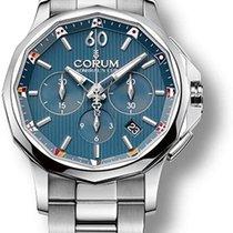 Corum Admiral's Cup Legend 42 nowość 2013 Automatyczny Chronograf Zegarek z oryginalnym pudełkiem i oryginalnymi dokumentami 984.101.20/V705 AB10