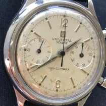 Universal Genève Steel 35mm Manual winding Compax pre-owned United States of America, Texas, Houston