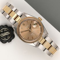 Rolex Oyster Perpetual Date pre-owned 36mm Bronze Leather