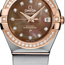 Omega Constellation Ladies Gold/Steel 27mm Mother of pearl No numerals United States of America, Texas, Houston