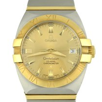 Omega Constellation Double Eagle pre-owned 35mm Gold Date Gold/Steel