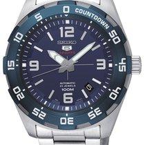 Seiko 5 Sports Acier 43mm Bleu