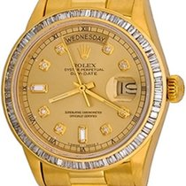 Rolex Day-Date 36 Oro amarillo 35mm Champán Sin cifras