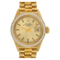 Rolex 6916 Yellow gold 1980 Oyster Perpetual Lady Date 26mm pre-owned United States of America, Florida, Surfside