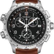 Hamilton Khaki X-Wind nuevo 2020 Cuarzo Cronógrafo Reloj con estuche y documentos originales H77912535